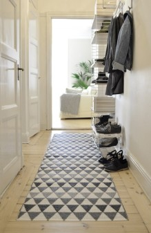 plastic grey rug