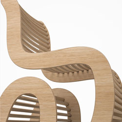 Spline chair detail