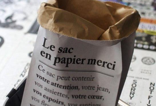 MERCI paper bag